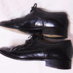 Stemar Shoes - STEMAR Wingtip Oxford Shoes Sz 9 USA/UK 8 Black